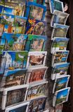 Cartes postales avec l'aspiration de Gubbio photographie stock libre de droits