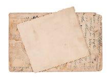 Cartes postales de cru d'isolement sur le blanc Photo stock