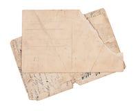 Cartes postales de cru d'isolement sur le blanc Images stock