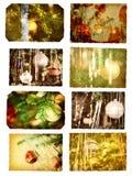 Cartes postales de Noël Images libres de droits