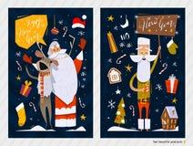 Cartes postales de Noël Photo stock