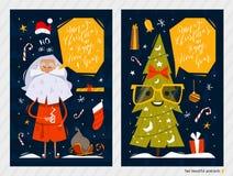 Cartes postales de Noël Photographie stock libre de droits