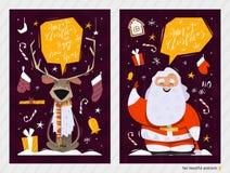 Cartes postales de Noël Photographie stock