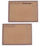 Cartes postales de papier d'emballage Photographie stock libre de droits