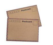 Cartes postales de papier d'emballage Images stock