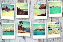 Cartes postales de Polinesia Photographie stock libre de droits