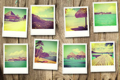 Cartes postales de Polynésie Images libres de droits