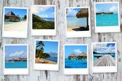 Cartes postales de Polynésie Photo libre de droits