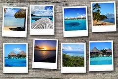 Cartes postales de Polynésie Image stock