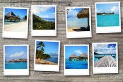 Cartes postales de Polynésie Photographie stock libre de droits