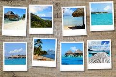 Cartes postales de Polynésie Photos stock