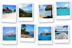 Cartes postales de Polynésie Photo stock