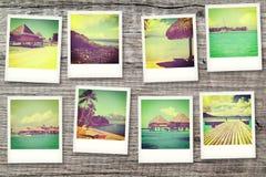 Cartes postales de Polynésie Photographie stock