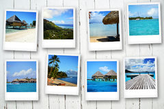 Cartes postales de Polynesya Photo stock