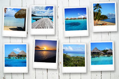 Cartes postales de Polynesya Photographie stock