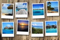 Cartes postales de Polynesya Images libres de droits