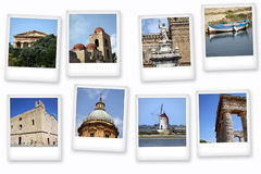 Cartes postales de Sicile Photos stock