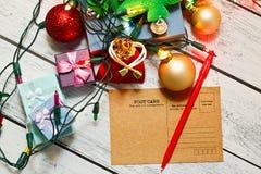 Cartes postales de signature de congrats de nouvelle année Images stock