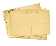 Cartes postales de vintage Photos libres de droits