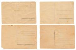 Cartes postales de vintage sur le blanc Images libres de droits