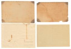 Cartes postales de vintage sur le blanc Photos libres de droits