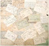 Cartes postales de vintage textes non définis manuscrits Images stock