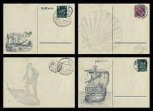 Cartes postales nautiques Photos stock