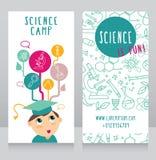 Cartes pour le camp de la science Photographie stock