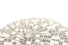 Cartes pour le loto russe (jeu de bingo-test) Photos libres de droits