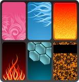Cartões set2 Imagens de Stock Royalty Free