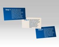 Cartes simples de l'infographics 3d Images stock