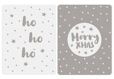 Cartes simples mignonnes de vecteur de Noël Gray Color Illustration simple illustration de vecteur