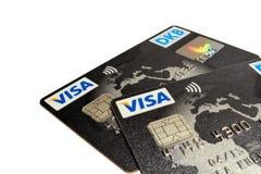 Cartes visa Photos libres de droits