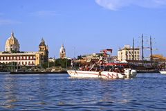 Carthagène de Indias Docks, Colombie image stock