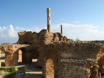 Carthage. Ruins of carthage Royalty Free Stock Photo