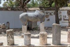 Carthage antigo, visitando as ruínas, Tunísia, África fotos de stock royalty free
