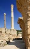 Carthage - banhos térmicos romanos Fotografia de Stock