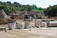 Carthage Baths of Antonino Pio Royalty Free Stock Photography