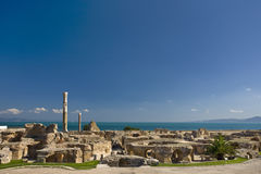 Carthage - i bagni di Antonine Immagine Stock