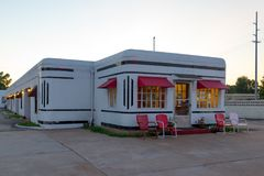 Carthage, MO JULY 15, 2014: Boots Court Motel on Route 66.  Royalty Free Stock Photography