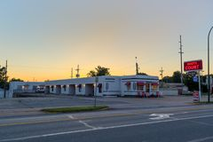 Carthage, MO JULY 15, 2014: Boots Court Motel on Route 66.  Royalty Free Stock Photo
