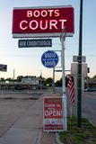Carthage, MO JULY 15, 2014: Boots Court Motel on Route 66.  Stock Photos