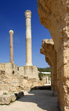 Carthage - Roman Thermal Baths. View of ancient columns within the remains of the Antoinine Thermal Baths built by Romans (310-390 BC Stock Photography