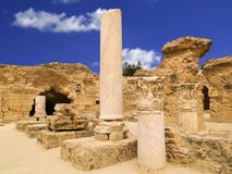 Carthage ruins. Ruins of the roman baths of Cartaghe, Tunisia Stock Photos