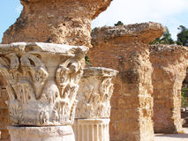 Carthage Stone Corinthian Column Capitals Stock Photo