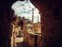 Carthage. Village tunis Mediterranean travel ruins Stock Image