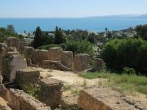 Carthagoruïnes van hoofdstad van de oude Carthaagse beschaving De Plaats van de Erfenis van de Wereld van Unesco royalty-vrije stock afbeeldingen