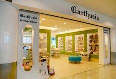 Carthusia Perfume Shop in Capodichino Naples Airport ,Italy. Stock Image
