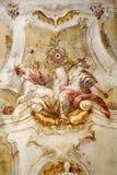carthusian разыгрыш фрески монастыря поздно стоковые изображения
