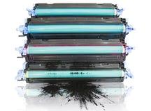 Cartidges do tonalizador da impressora Foto de Stock